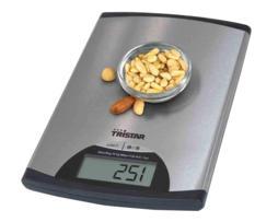 Tristar Balanza cocina electrónica inox lcd para pesar fácilmente todo tipo de alimentos, capacidad hasta 5 kg