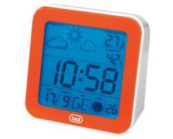 Trevi Estación meteorológica con radio control, reloj 12/24 h. Alarma despertador