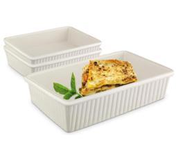 Sets de 6 piezas para cocinar en microondas de forma rectangular