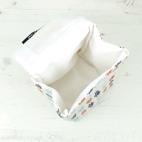 Su composición ecológica garantiza que la bolsa porta-tuppers Malla está libre de ftalato de plomo y de BPA. Es lavable a máquina.