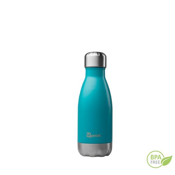 Botella de acero inoxidable isotérmica Qwetch 260 ml azul