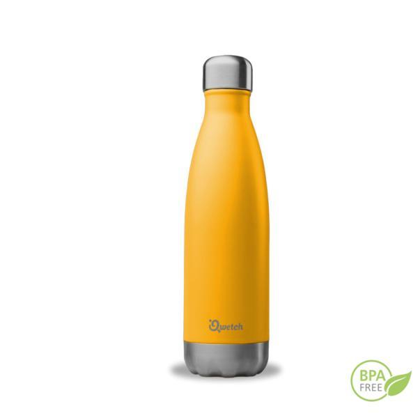 Botella de acero inoxidable isotérmica Qwetch naranja