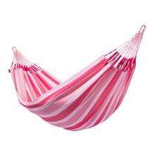 La hamaca doble Aventura candy: Los bordes del tejido reforzados hacen que la hamaca sea extremadamente resistente a las roturas.