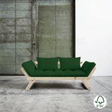 El diván cama Bebop verde botella