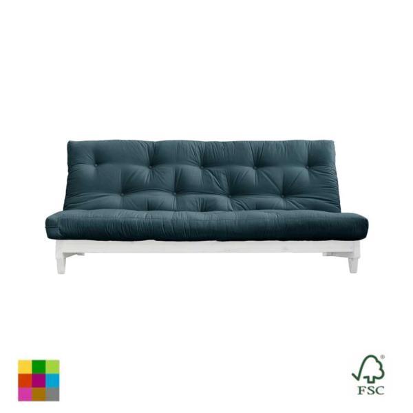El sofá cama Fresh lacado blanco es un sofá de tres plazas que con un simple gesto se convierte en una cama doble con futón.