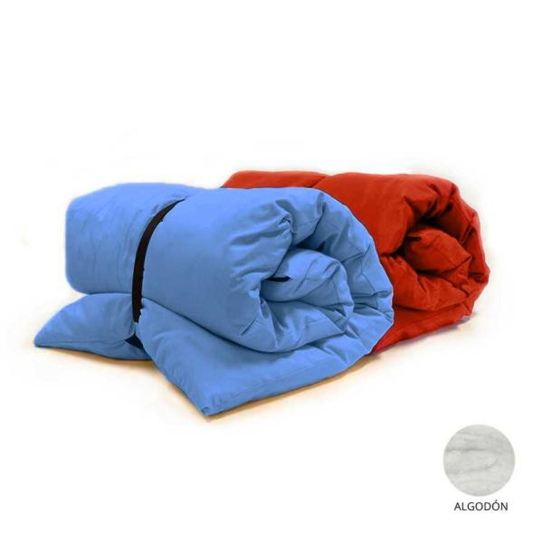 futon portatil color con funda extraible