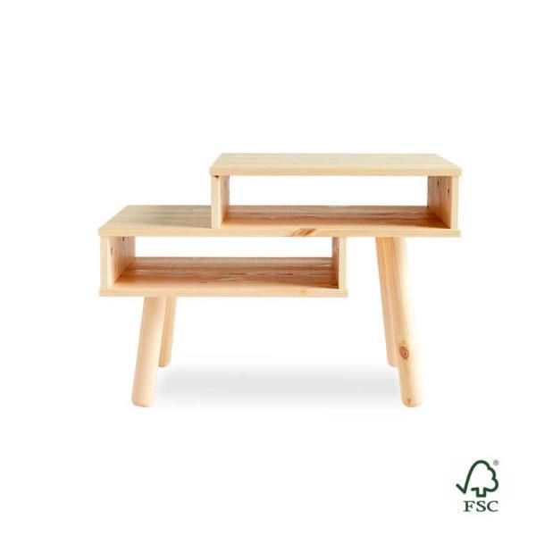 Mesita auxiliar de madera Hako