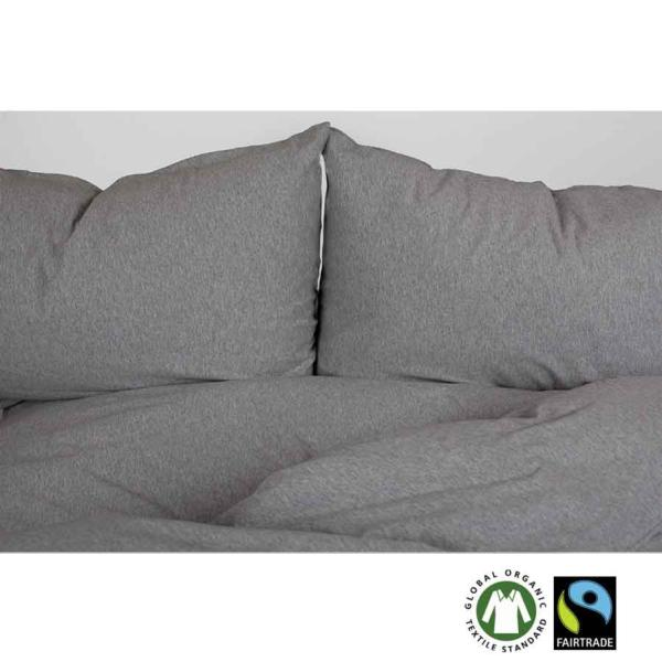 Juego de cama de algodón orgánico jersey