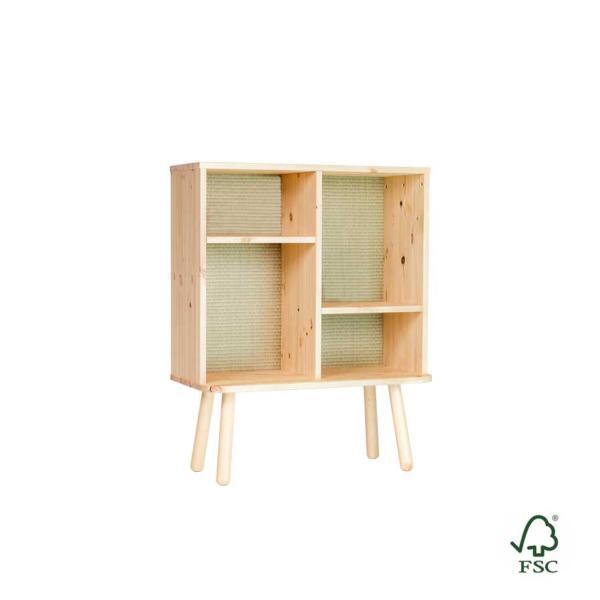 Estantería auxiliar de madera Kyabi