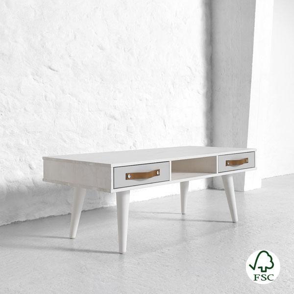 Dance es una mesa de centro elegante de madera maciza que se ajusta al estilo de tu sala de estar.