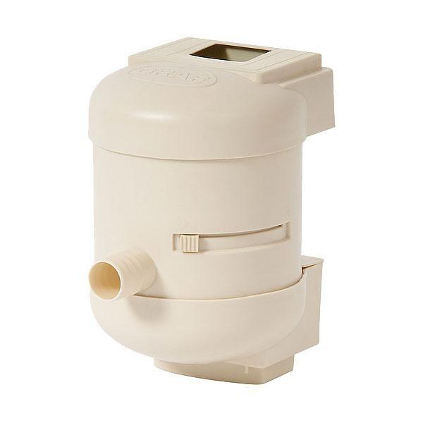 Filtro Quattro wist, para bajante rectangular: está disponible en color beige y contiene una malla filtrante interior.