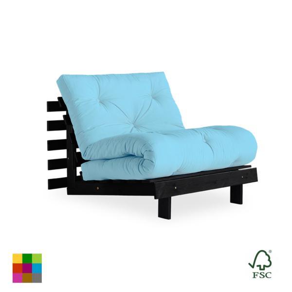Es un sofá-cama divertido completamente personalizable que se adapta a un estilo de vida dinámico gracias a que está disponible en 9 colores de futón.