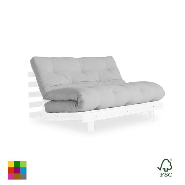 El sofá cama Roots doble es un cómodo sofá de diseño limpio, acogedor, confortable y de estructura sólida. Puedes usarlo en tres posiciones diferentes.