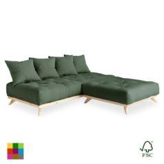 Sofá cama Senza chaise longue natural - Ítem