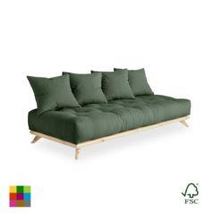 Sofá cama Senza lacado natural