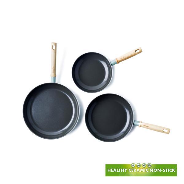 Pack de tres sartenes ecológicas Green Pan Mayflower