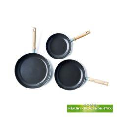 Pack de tres sartenes ecológicas Green Pan Mayflower - Ítem