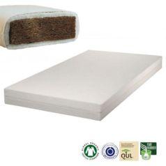 El colchón infantil de fibra de coco Alex Plus dispone de 8 cm de grosor de fibra de coco, que lo convierte en transpirable y firme. El núcleo está envuelto por una gruesa capa de lana natural de oveja o por una gruesa capa de algodón - Ítem