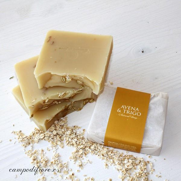 Jabón natural de avena de trigo