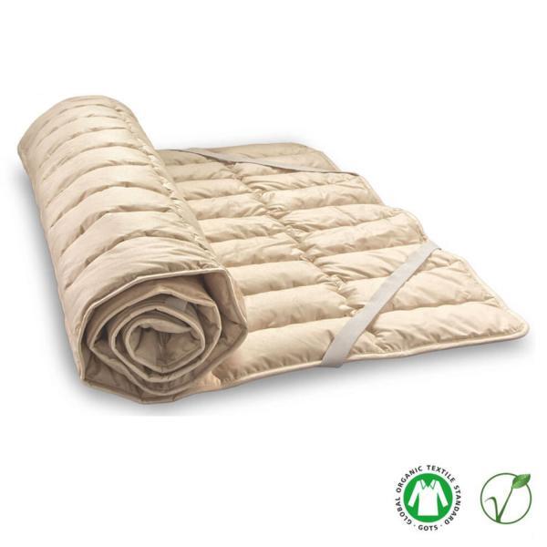 Esta mezcla de fibras vegetales asegura un descanso seco y cálido porque se expulsa con facilidad el exceso de humedad y se conserva el calor corporal.