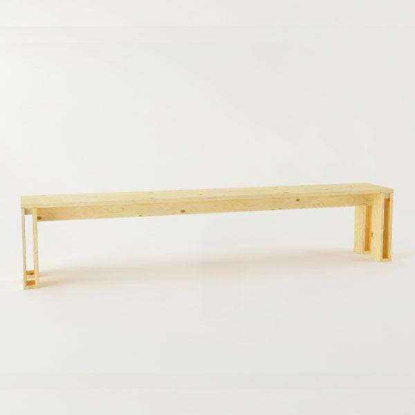 El banco de madera maciza pulida Arina mueble ecológico y reciclable