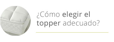 elegir topper natural