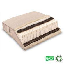 El colchón natural Piuma Rosso está fabricado a mano en Alemania con látex ecológico y crin de caballo auténtico