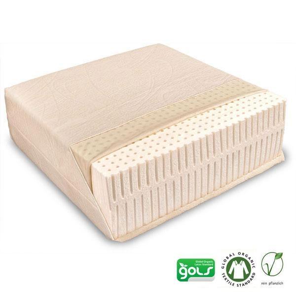 El colchón Piuma Solo de látex natural está indicado para personas alérgicas gracias a su funda extraíble de algodón orgánico en acabado jersey