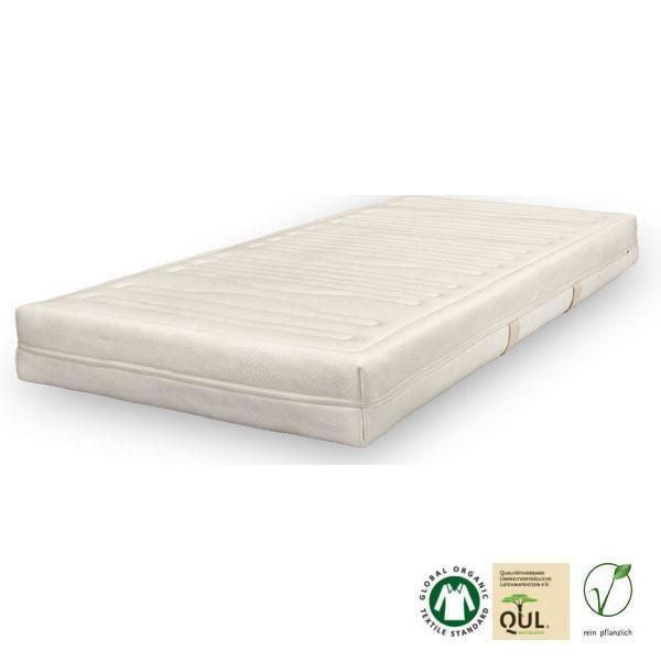Es posible elegir entre dos fundas ecológicas para este colchón de látex natural, ambas elaboradas con materiales orgánicos
