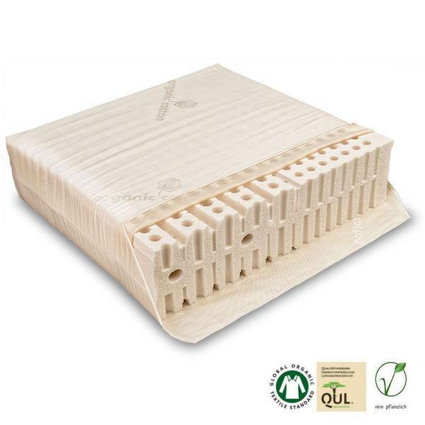 Colchón ecológico de látex natural para adultos y adolescentes con zonas diferenciadas de descanso fabricado en Alemania