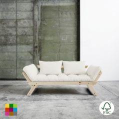 El diván cama Bebop gris es perfecto para combinar en cualquier tipo de ambiente, está fabricado con madera de pino macizo escandinavo de tala certificada FSC.