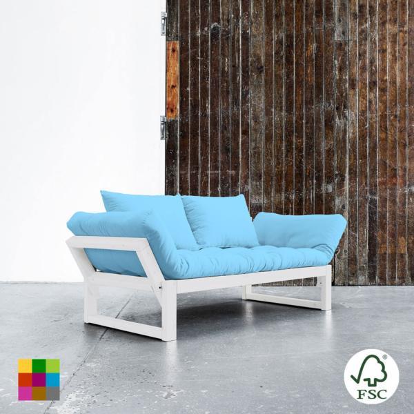 El Diván Cama Edge visón ofrece tres posiciones: diván de dos plazas, chaise-longue y cama individual de 80 x 200 cm.