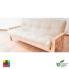 El sofá cama Bifold se convierte en una cama doble de 140 x 200 cm.