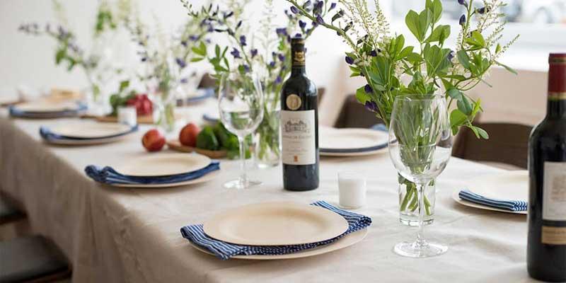 En tus fiestas y celebraciones utiliza menaje de cocina ecológico
