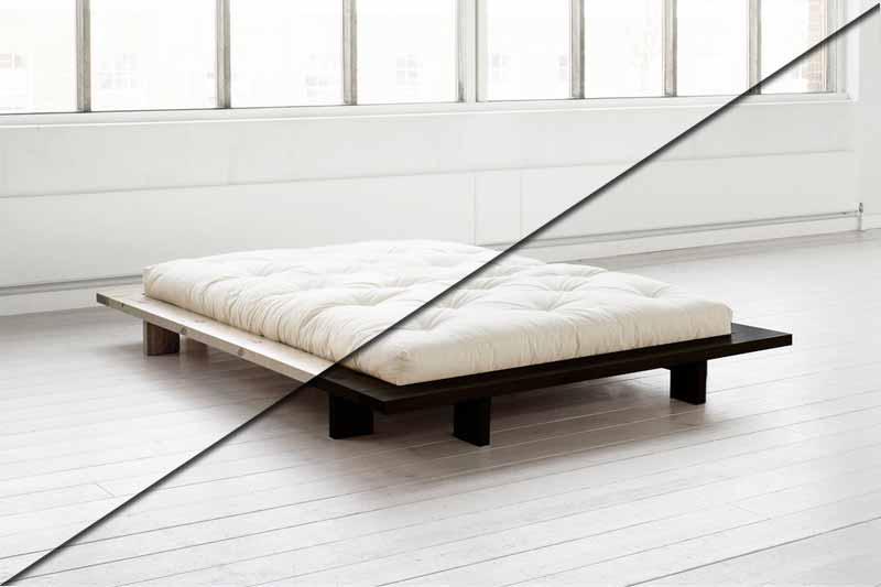 camas de madera naturales