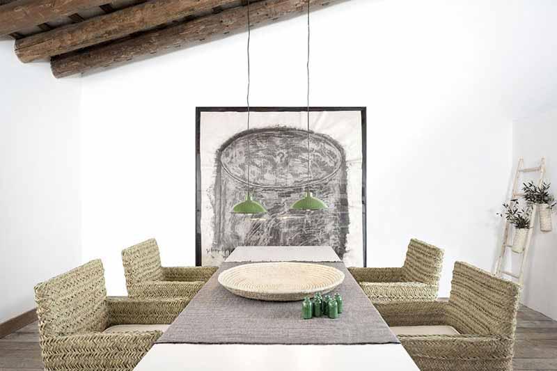 Decoración ecológica para salón y dormitorio