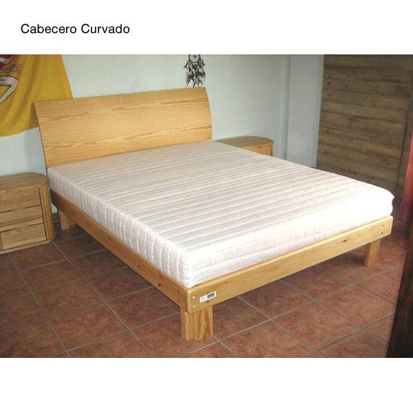 Cama somier madera fustaforma con arc n abatible for Como hacer una cama matrimonial de madera