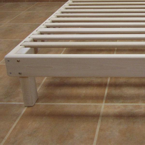 Cama somier madera fustaforma sin metales - Hacer una cama de madera ...