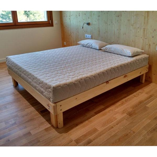 Cama somier madera fustaforma for Como reciclar una cama de madera