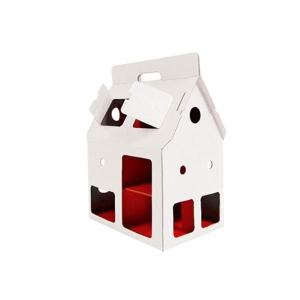Casita cartón reciclado Mobilehouse blanca