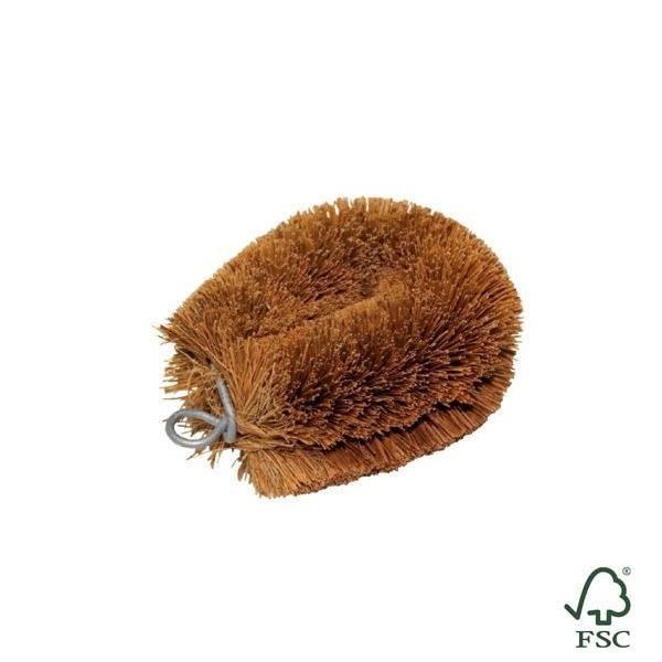 Cepillo de fibra de coco artesanal de calidad, muy útil y duradero.