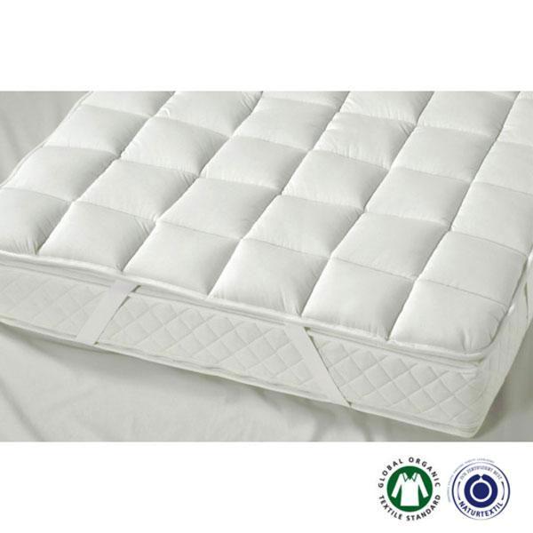 El topper Cesena leicht de Prolana se sujeta al colchón de forma segura, proporcionando durante la noche mayor comodidad y calidez.