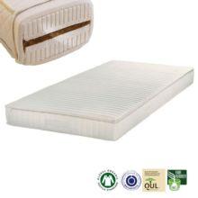 El colchón de látex y fibra de coco Cocoa es un colchón indicado para personas alérgicas. Puedes elegir tu funda para el colchón con o sin acolchado.
