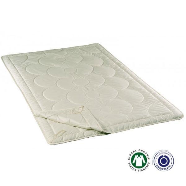 Esta combinación de materiales absorbe la humedad durante la noche (la seda puede chupar más del 33% de su propio peso en higrometría) proporcionando una sensación de bienestar. Es perfecto para personas que transpiran mucho.
