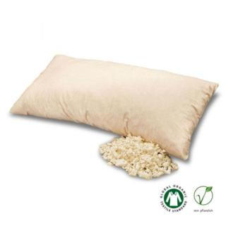 La almohada de copos de látex Baumberger está formada por copos de látex hechos de espuma de látex 100% natural. Es resistente, suave y elástica, y se puede moldear de forma individual adaptándola perfectamente al cuello