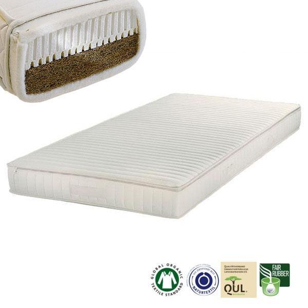 El colchón de látex y fibra de coco Costa Rica tiene un grado de firmeza Medio-Firme (H4)