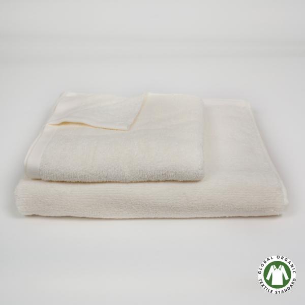 Toalla de algodón orgánico Acqua crema