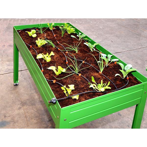 Mesa de cultivo cultivo en casa color verde for Mesa de cultivo casera
