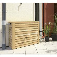 Depósito recogida agua de lluvia Woody, fabricado en material plástico de primera calidad estable a los rayos UV y reciclable al 100%