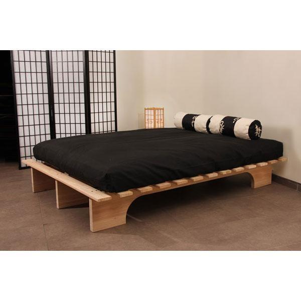 Eko Bed es una cama de madera robusta fabricada con madera de hevea certificada